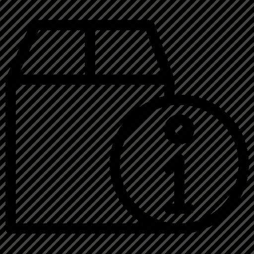 box, info, information, online icon