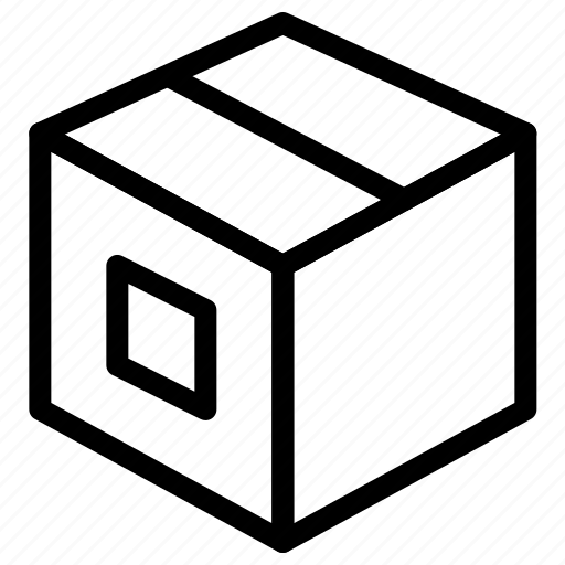 box, delivery, express, in, package icon