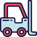 delivery, forklift, logistics, shipping, truck icon