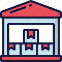 delivery, full, logistics, shipping, storage, warehouse icon