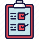 checklist, delivery, logistics, shipping, tick icon