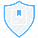 delivery, logistics, parcel, secure, shield, shipping icon