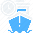 delivery, logistics, ship, shipping, timed icon