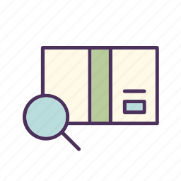 box, delivery, package, search, shipment, shipping, tracking icon