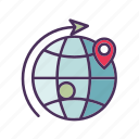 box, cardboard, delivery, location, package, shipment, shipping icon
