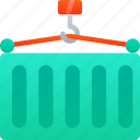container, delivering, delivery, logistics, shipping icon