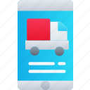 delivery, iphone, logistics, mobile, shipping icon