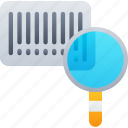 barcode, delivery, logistics, scanning, search, shipping icon