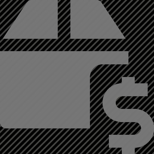 box, dollar, money icon