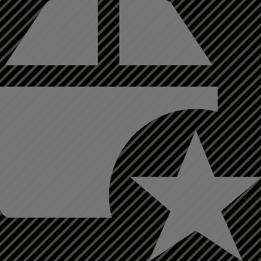 box, favorite, star icon