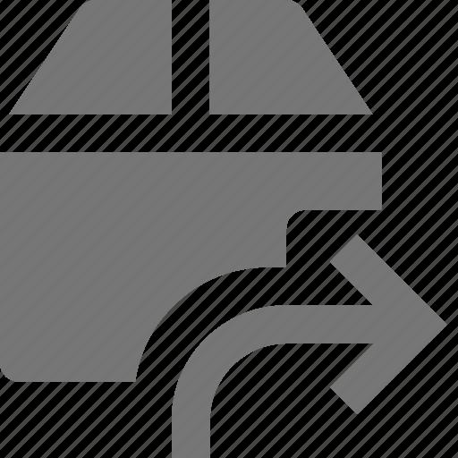 arrow, box, forward, send icon