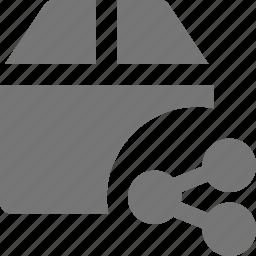 box, share icon