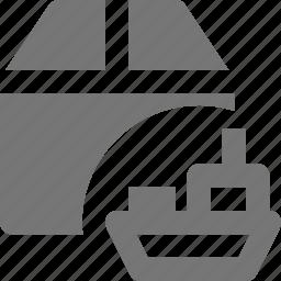 boat, box, ship, shipping icon