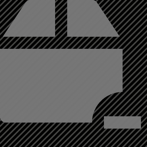 box, minimize, minus icon