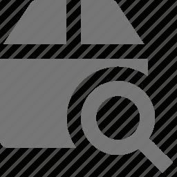 box, search, view icon