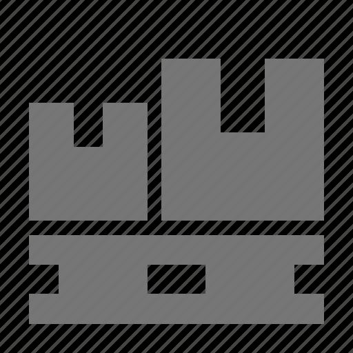 belt, box, boxes, coveyer icon