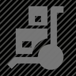 box, boxes, trolley icon