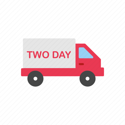 delivery, delivery truck, shipping, two day shipping icon
