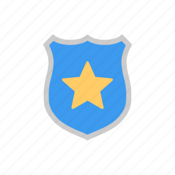 protect, security, shield, star icon