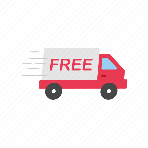 delivery, delivery truck, free, free shipping icon