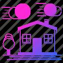 house, logistics, shipping, transportation icon