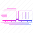 delivery, logistics, shipping, train, transportation icon