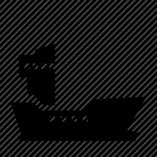 boat, bulk, cargo, cargoship, freighter, ports, tranport icon