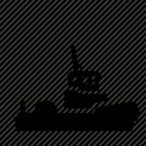 boat, marine, pulling, pushing, ship, transport, tugboat icon