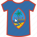 country, flag, guam, nation, shirt icon