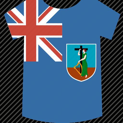 montserrat, shirt icon
