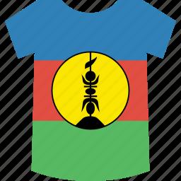 caledonia, new, shirt icon