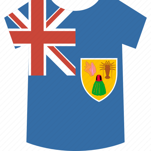 and, caicos, islands, shirt, the, turks icon