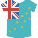 country, flag, nation, shirt, tuvalu icon