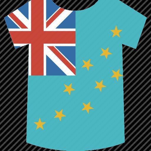 country, flag, nation, shirt, tuvalu icon