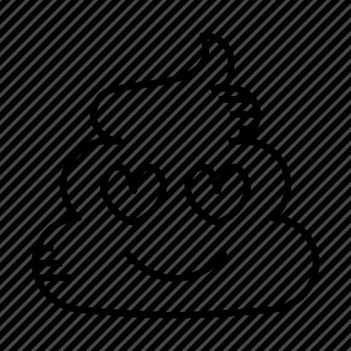 crap, dirt, excrement, feces, love, poop, shit icon