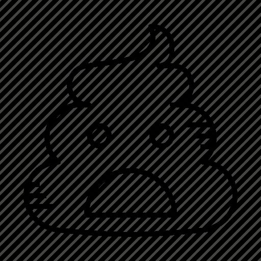 crap, dirt, excrement, feces, poop, shit icon