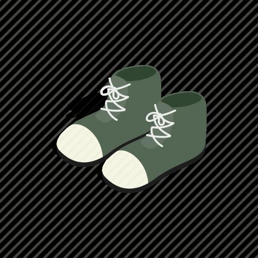 boot, casual, fashion, isometric, male, shoe, sport icon