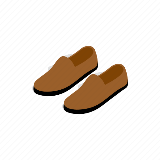 buckle, fashion, foot, isometric, leather, male, shoe icon