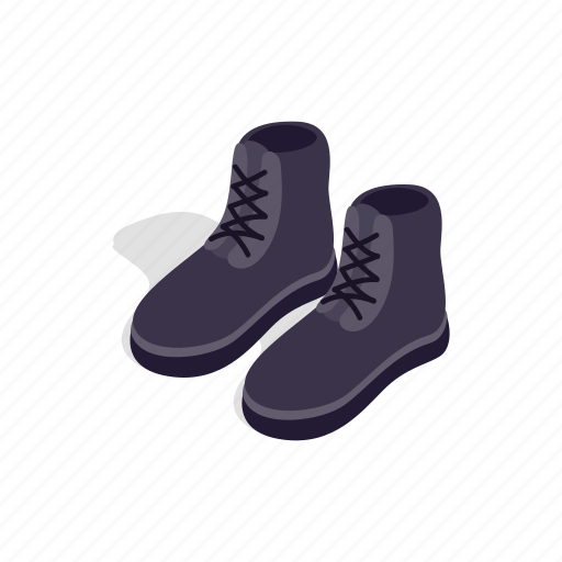 boot, casual, fashion, isometric, male, shoe, sport icon