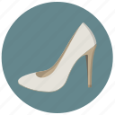 bride, fashion, high heel, lady, pump, shoes, wear icon