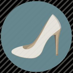 bride, fashion, high heel, lady, pump, shoes, wear icon