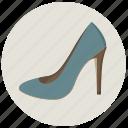 dress, fashion, heel, highheels, shoes, woman shoe, women's clothing icon