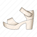 female, footwear, sandal, sandals, shoes icon