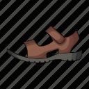 footwear, male, sandal, shoes icon