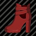 female, footwear, shoe, shoes icon