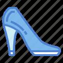 footwear, heel, high, shoe, women icon