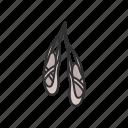 ballerina, ballerina slipper, ballet, ballet shoe, dance shoe, dancing shoe, shoe icon