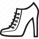 footwear, heel, high heel, shoes icon