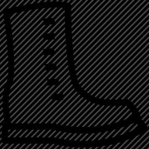 big boot, footwear, long boot, long shoe, shoe icon