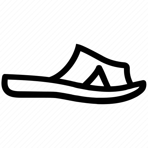 footwear, home sandal, home wearing, leisure sandal, slipper icon